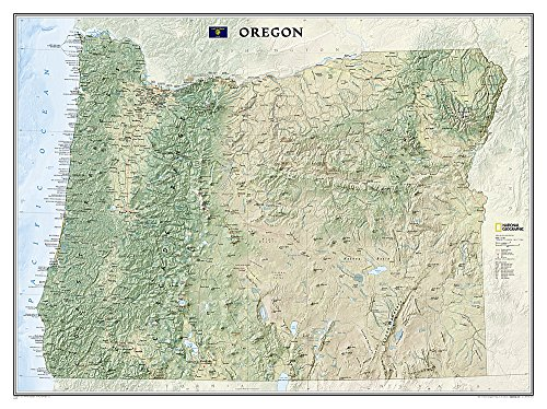9781597752404: National Geographic: Oregon Wall Map (40.5 x 30.25 inches) (National Geographic Reference Map)