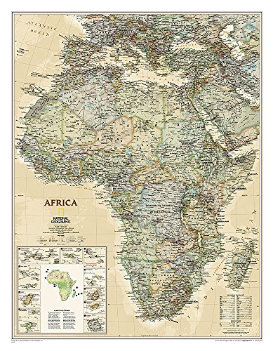 9781597752596: Africa Classic, Enlarged &, Laminated: Wall Maps Continents (National Geographic Reference Map)