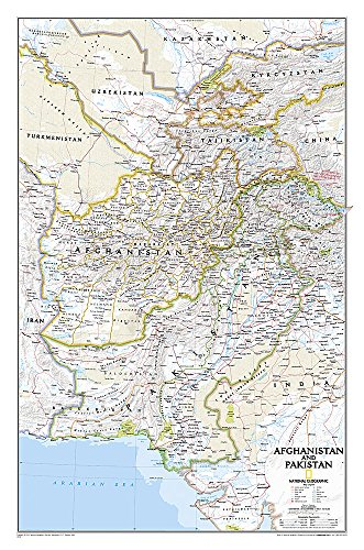 9781597752640: Afghanistan, Pakistan [Tubed] (National Geographic Reference Map)