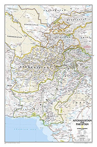 9781597752657: National Geographic: Afghanistan, Pakistan Wall Map - Laminated (21.5 x 32.5 inches) (National Geographic Reference Map)
