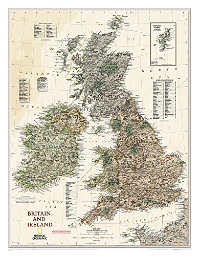 9781597752718: Britain and Ireland Executive [Laminated] (National Geographic Reference Map)
