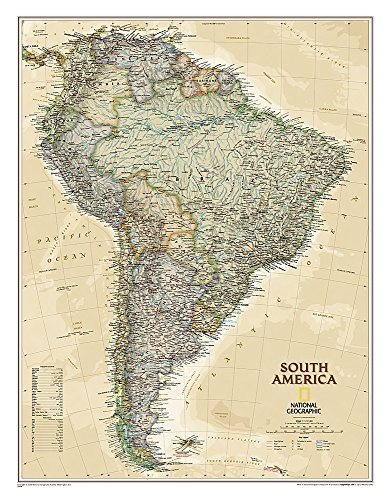 9781597752763: South America Executive [Tubed] (National Geographic Reference Map)