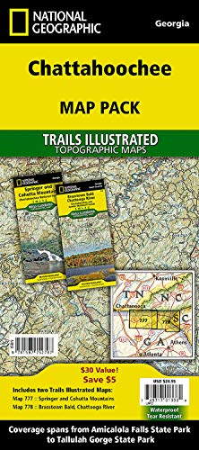 9781597752787: Chattahoochee National Forest [Map Pack Bundle] (National Geographic Trails Illustrated Map)