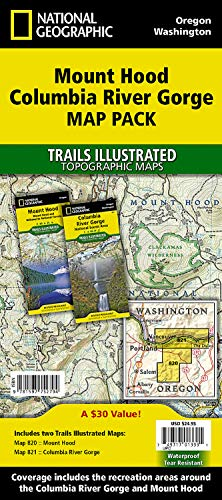 9781597752794: Mount Hood, Columbia River Gorge [Map Pack Bundle] (National Geographic Trails Illustrated Map)