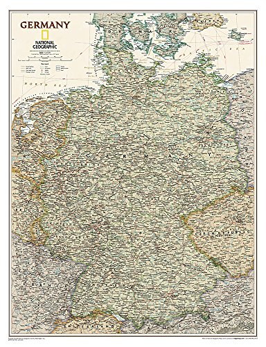 9781597752848: National Geographic: Germany Executive Wall Map (23 x 30 inches) (National Geographic Reference Map)