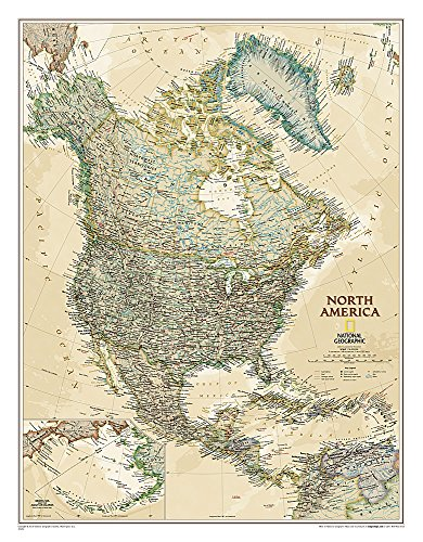 9781597752909: North America Executive [Tubed] (National Geographic Reference Map)