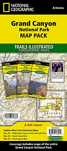 Grand Canyon National Park [Map Pack Bundle] (National Geographic Trails Illustrated Map): National...