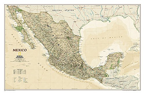9781597753401: Mexico Executive [Tubed] (National Geographic Reference Map)