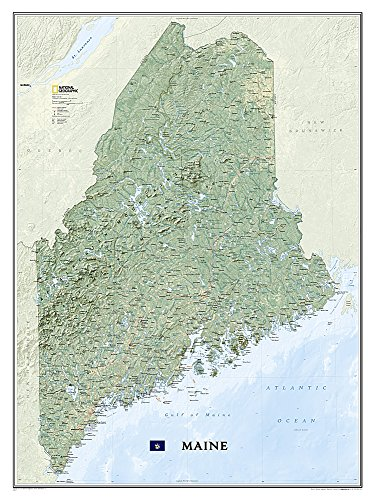 9781597753487: National Geographic: Maine Wall Map (30.25 x 40.5 inches) (National Geographic Reference Map)