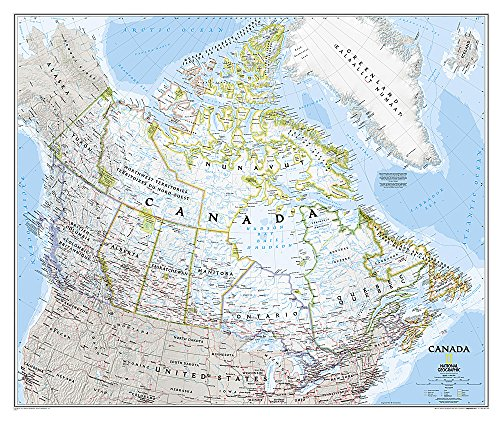 National Geographic: Canada Classic Wall Map - Laminated