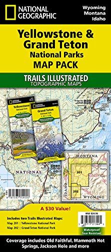 9781597754002: Yellowstone and Grand Teton National Parks [Map Pack Bundle] (National Geographic Trails Illustrated Map)