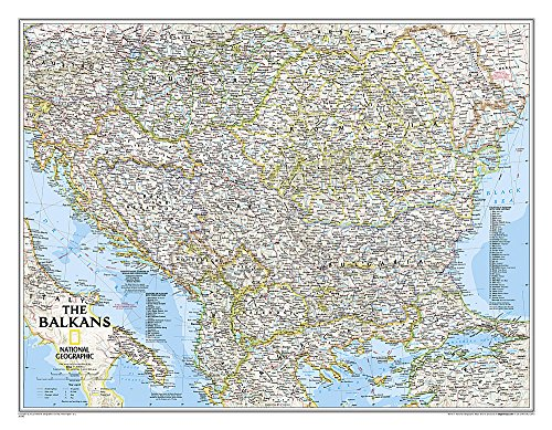9781597754057: National Geographic: The Balkans Classic Wall Map - Laminated (30.25 x 23.5 inches) (National Geographic Reference Map)