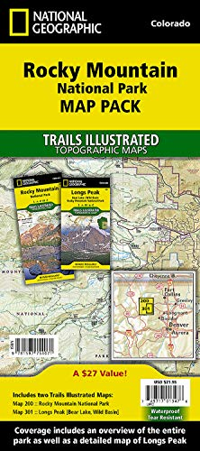 9781597754071: Rocky Mountain National Park [Map Pack Bundle] (National Geographic Trails Illustrated Map)