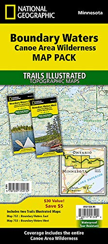 9781597754132: Boundary Waters, Map Pack Bundle : Trails Illustrated Other Rec. Areas (National Geographic Trails Illustrated Map)