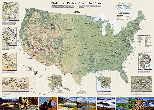 United States National Parks, tubed : Wall: National Geographic Maps