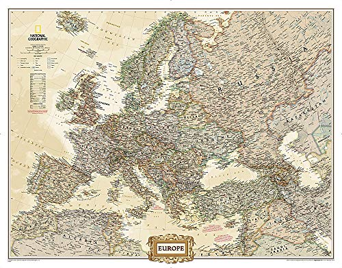 9781597754484: National Geographic: Europe Executive Mural Wall Map (98.5 x 77 inches) (National Geographic Reference Map)