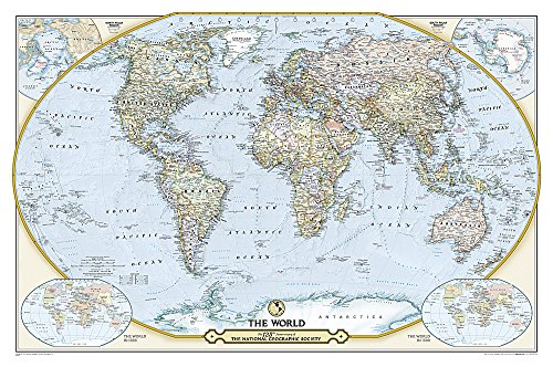 9781597755290: NGS 125th Anniversary World Map [Laminated] (National Geographic Reference Map)