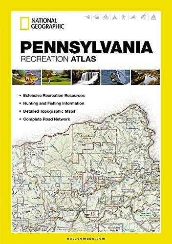 9781597755559: Pennsylvania : recreation atlas (National Geographic Recreation Atlas)