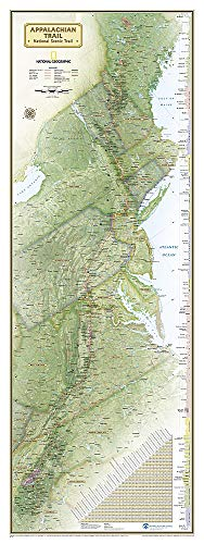 9781597755672: National Geographic: Appalachian Trail Wall Map Wall Map - Laminated (18 x 48 inches) (National Geographic Reference Map)