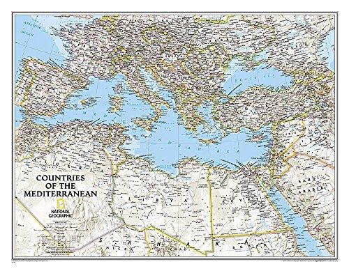 Mediterranean Region Classic, Tubed: Wall Maps - Countries Regions