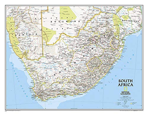 9781597755870: National Geographic: South Africa Classic Wall Map (30.25 x 23.5 inches) (National Geographic Reference Map)