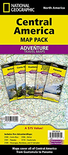 Central America [Map Pack Bundle] (National Geographic Adventure Map): National Geographic Maps - ...
