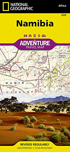 9781597756198: Namibia (National Geographic Adventure Map)