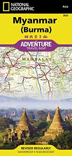 9781597756235: Myanmar (Burma): Travel Maps International Adventure Map