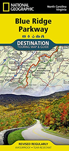 9781597756242: Blue Ridge Parkway (National Geographic Destination Map)