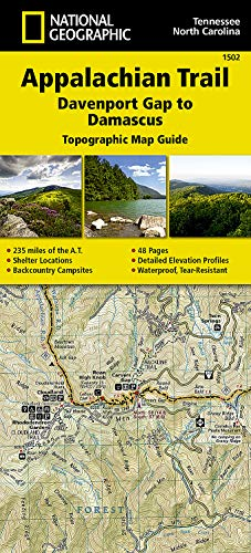 9781597756396: Appalachian Trail, Davenport Gap to Damascus [North Carolina, Tennessee] (National Geographic Topographic Map Guide)
