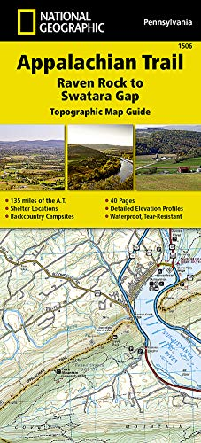 9781597756433: Appalachian Trail, Raven Rock to Swatara Gap [Pennsylvania] (National Geographic Trails Illustrated Map)