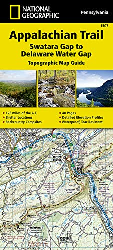 9781597756440: Appalachian Trail, Swatara Gap to Delaware Water Gap [Pennsylvania] (National Geographic Topographic Map Guide)