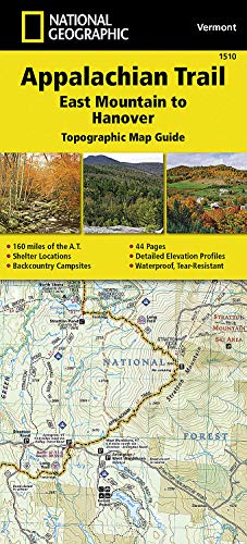 9781597756471: Appalachian Trail, East Mountain to Hanover [Vermont] (National Geographic Topographic Map Guide)