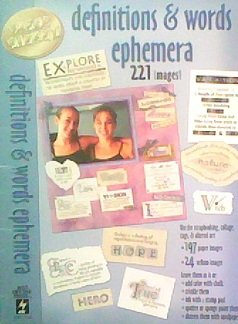 9781597760034: Definitions & Words Ephemera: 227 Images (Paper Pizazz)