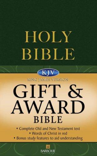 9781597895347: KJV Gift & Award Bible - Green (King James Bible)
