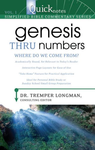 Genesis Thru Numbers: Where Do We Come: Longman, Dr Tremper,