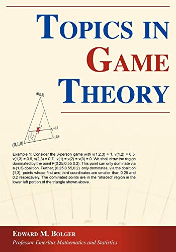 9781598001051: Topics in Game Theory