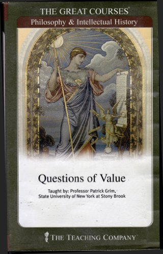 Questions of Value (Parts 1 and 2 with Cassettes) The Great Courses, Philosophy & Intellectual Hi...