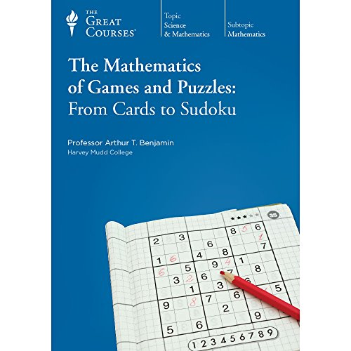 The Mathematics of Games and Puzzles: From Cards to Sudoku, 12 Lectures on 3 DVDs Plus Course ...