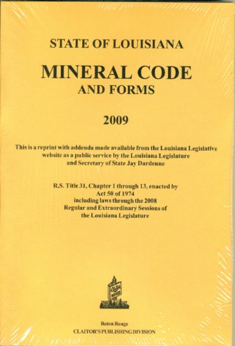 9781598044645: Louisiana Mineral Code 2009