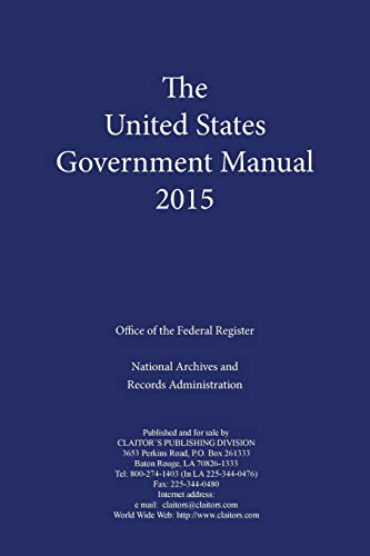 9781598047967: United States Government Manual