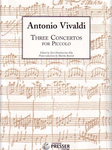 9781598061994: Three Concertos for Piccolo (Piccolo and Piano)