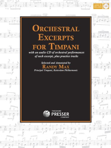 9781598062755: Orchestral Excerpts for Timpani Book CD