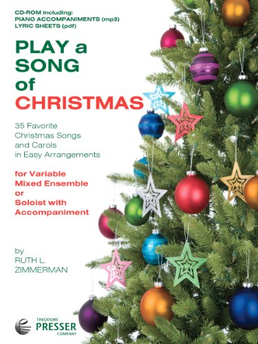 9781598063707: Play A Song Of Christmas - 35 Favorite Christmas Songs and Carols In Easy Arrangements (CD-Rom: includes piano accompaniment, lyrics and pritable PDF of piano sheet music)