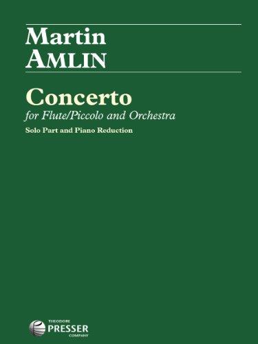 9781598064339: Concerto For Flute/Piccolo And Orchestra (for Flute/Piccolo, and Piano)