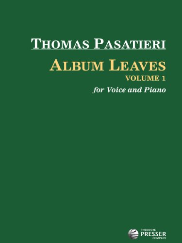 9781598064391: Album Leaves, Vol. 1 (Voice and Piano)