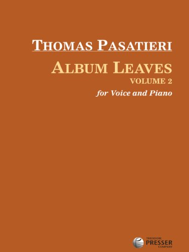 9781598064957: Album Leaves, Vol. 2 (for Voice and Piano)