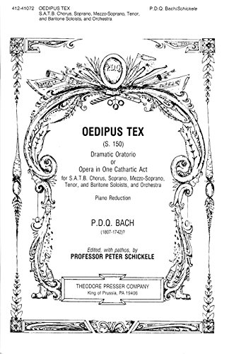 9781598065473: Oedipus Tex Dramatic Oratorio or Opera in One Cathartic Act, For S.A.T.B. Chorus (Sopr, Mezzo Sopr., Ten, Bari Soloists and Orchestra) - Piano Vocal Score