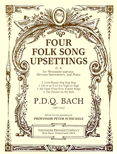 9781598065510: Four Folk Song Upsettings, for Mezzanine-Soprano, Devious Instruments, and Piano