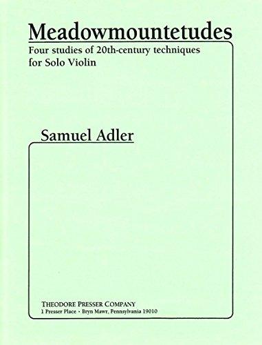 9781598066081: Adler: Meadowmountetudes (4 Studies of 20th-Century Techniques)